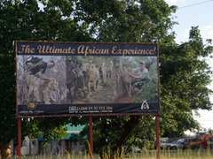Livingstone is full of similar billboards touting amazing African experiences