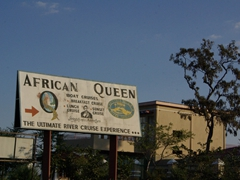 Billboard for Livingstone's Adventure African Queen