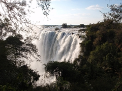 "View of the Zambian side of ""Mosi-oa-Tunya"" (the smoke that thunders); Victoria Falls"
