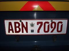 Zimbabwe license plate