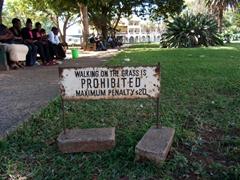 An effective signpost; Bulawayo town hall