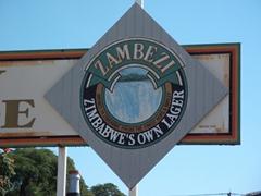 Signpost for Zambezi, a Zimbabwe Beer