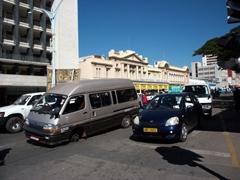 Looks like this van is missing a wheel; Bulawayo