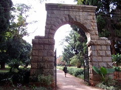 Cecil John Rhodes archway at the Harare Garden