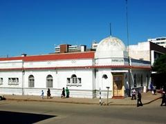 A colonial relic, the Empire Club; Bulawayo