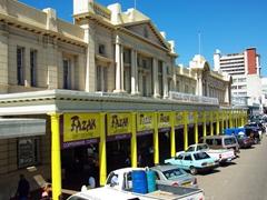 Shopping arcade on a main street in Bulawayo