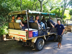 Everyone is excited to search for rhinos; Paradise Lodge in Bulawayo