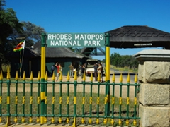 Entrance to Matopos Park