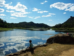 What a wonderful way to spend an afternoon! A young boy fishes as a lake within Matopos National Park