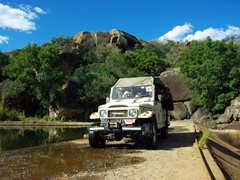 Our 4x4 used to track rhinoceros at Matopos National Park