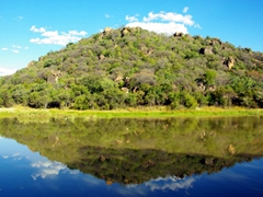 A mirror reflection on the surface of a lake in Matopos National Park