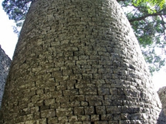 The 10 meter high conical tower of the Great Zimbabwean Ruins supposedly is a phallic symbol