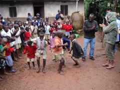 The children are excellent performers, as they dance and sing with glee; Kyabahinga Orphanage