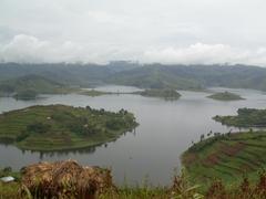The spectacular scenery of beautiful Lake Bunyonyi