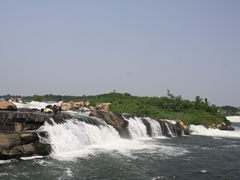 View of our first rapid; Nile River