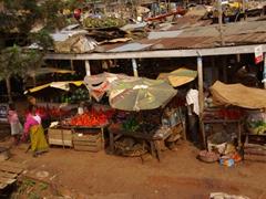 Fruit and vegetable market; Kampala