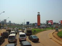 Kampala's downtown roads get congested and crowded during peak travel hours