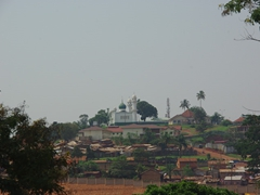 View of a hilltop Kampala mosque