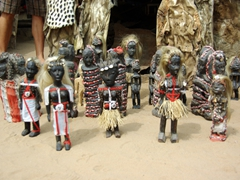 Voodoo dolls are the only non-animal items to be bought at Akodessewa Fetish Market in Lomé