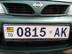 A Togo license plate