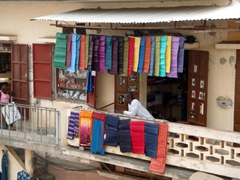 Colorful cloth for sale at Lomé Grand Marche