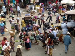 A view of the hustle and bustle at Lomé's Grand Marche