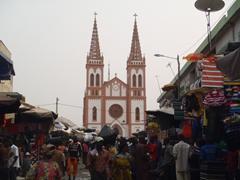 View of Lomé Cathedral, on the outskirts of the Grand Marche