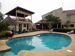 The wonderfully inviting Hotel Alize...a great place to stay while in Lomé