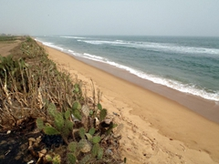 View of the beach near Hotel Alize; outskirts of Lomé