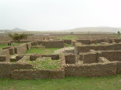 The remains of the Queen of Sheba Palace; Aksum