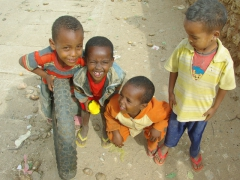 Harar boys hamming it up for the camera