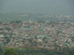 View of the walled city of Harar from a panoramic lookout point