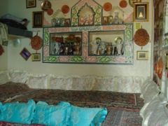 Interior view of a typical Arab house; Harar
