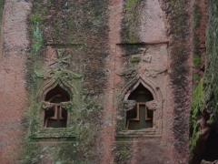 Windows of the Selassie Chapel; Lalibela