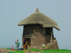 A traditional stone dwelling; Lalibela
