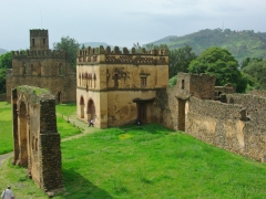 A view of the numerous castles of the Royal Enclosures; Gondar