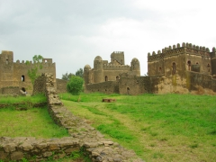 It was a surreal sight to see castles in Africa of all places, but Ethiopia's Gondar is full of them!