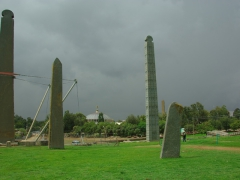 May Hedja Stele Park has an assortment of standing carved stele; Axum
