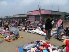 Clothing section of Addis Ababa's mercato
