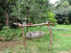 Stone gong outside of Lake Tana's Azwa Mariam Monastery
