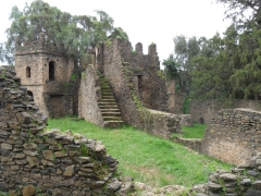 A romantic look at one of Gondar's numerous royal castles