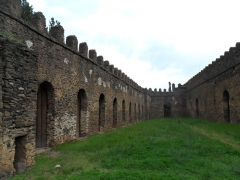 Another view of the royal castle complex of Gondar