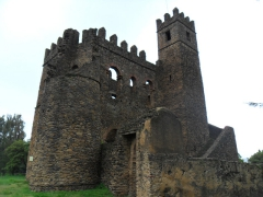 Fasil's Archive castle was built from 1632 - 1667; Gondar Royal Enclosure