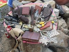 Miscellaneous religious souvenirs for sale; Axum