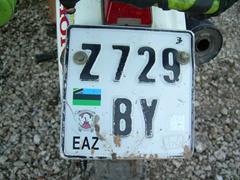 A Zanzibar license plate