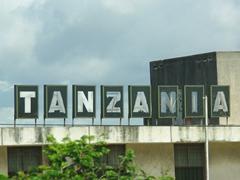 "A ""Tanzania"" signpost in Dar Es Salaam"