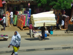 Mattress for sale, anyone? Dar Es Salaam street scene