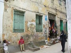 Stone Town alley scene