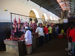 Meat market section of the Darajani Market; Zanzibar