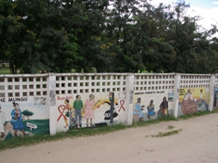 Wall mural in Dar Es Salaam